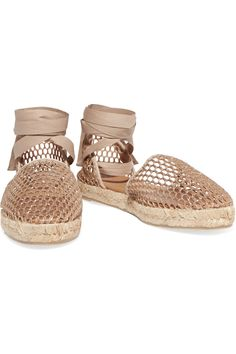 Shop on-sale Castañer Kathy metallic mesh espadrilles. Browse other discount designer Sandals & more on The Most Fashionable Fashion Outlet, THE OUTNET.COM