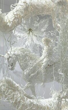 White Store Window Display