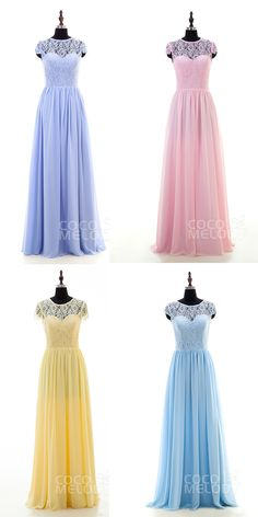 $86. Pastel color floor length #bridesmaid #dresses. #cocomelody