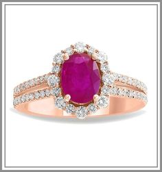 Metal + Purity – 14K Rose Gold Number of Side Diamonds - 60 Number of Center Oval Ruby - 1 Minimum Weight – 5 Carat For customization queries contact on whatsapp +919216113377 Sapphire Gemstone, Pink Sapphire, Gemstone Rings, Ruby Diamond Rings, Gold Rings Jewelry, Gold Number, 18k Rose Gold, Heart Ring, Jewelry Making