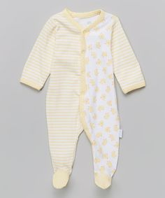 Look at this Vitamins Baby Yellow Stripe Duck Footie - Infant on #zulily today!