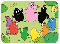 Tischset Barbapapa Rundtanz von Petit Jour Paris Paris, Bunt, Scooby Doo, Cartoons, Manga, Fictional Characters, Bite Size, Coloring Pages, Pattern