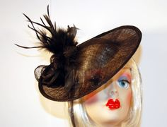 Black Fascinator Hat with Black Feathers by MadameMerrywidow, $50.00