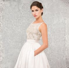 Anne Barge wedding dress with pockets