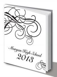 black and white yearbook cover