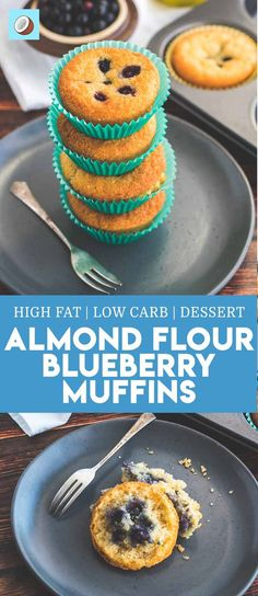 Warm from the oven keto blueberry muffins are easily my favorite dessert this month. The buttery muffin texture mixed with the sweet pockets of watery goodness that comes from having the occasional blueberry pop in your mouth is what youve been waiting for! via @fatforweightlos