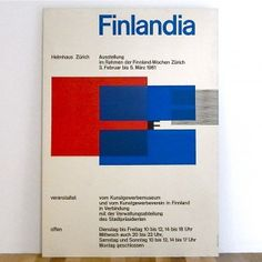 "Finland x Swiss Graphic ""Finlandia"" Typography Poster by Jorg Hamburger"