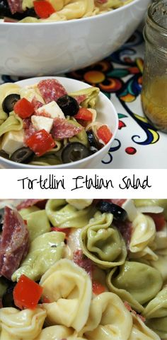 This Tortellini Italian Salad is as beautiful as it is delicious. It comes together quickly and the only cooking involved is boiling the tortellini, making it perfect for the busy party host, or for those hectic weeknights.