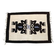 1960s Vintage Mexican Frog Motif Rug - 2′8″ × 3′9″ - Image 1 of 4