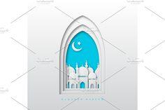 Eid Mubarak Greetings, 3d Paper, Window Design, Ramadan, Paper Cutting, Banner, Greeting Cards, Graphic Design, Marketing