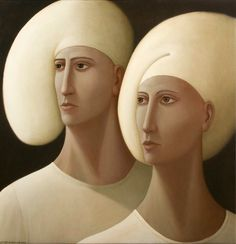 'Be Somebody'  - Oils on Linen, 32 x 33 ins - George Underwood