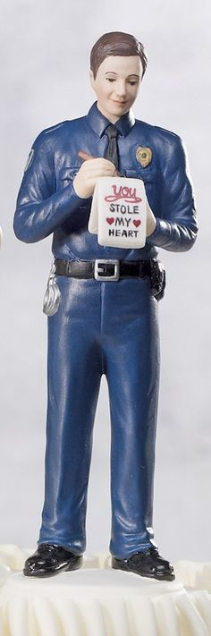 Love Citation Policeman Groom Figurine from Wedding Favors Unlimited