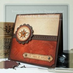"By Beate Johns. Uses stamps from Stampin' Up ""Bronc Buster. 21st Birthday Cards, Bday Cards, Male Birthday, Scrapbooking, Scrapbook Cards, Horse Cards, Retirement Cards, Fun Fold Cards, Fathers Day Cards"