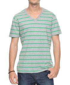 Striped V-Neck Top | 21 MEN - 2000039086