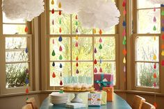 rainbow showers mobile party We Can Make it if We Try!: Rainbow Mobile wedding idea Tutorial Inspiration DIY Project  inspiration found and beautiful diy weddings