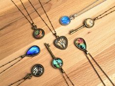 CHRYSALIS: Jewelry and art made out of real butterfly and moth wings, sourced from butterfly farms and sanctuaries where the butterflies live their full lifespans, says Charlotte's Jaclyn Brzezinski. Here: An assortment of butterfly and moth wing pendants; $25-$40.