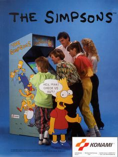 Classic Ads: The Simpsons Arcade  The Simpsons Arcade Game is an arcade beat 'em up developed by Konami released in 1991.