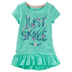 Toddler Girl OshKosh B'gosh® Ruffled Tunic Top, Size: 4T, Green