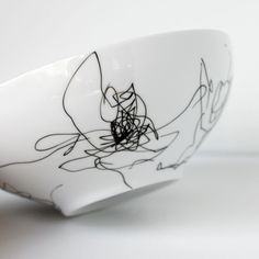 How to make a scribble bowl with a kid's drawing for Mother's Day