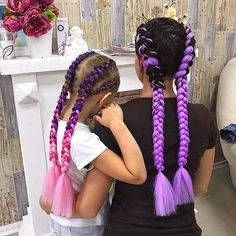 Side braid hairstyles are the ultimate cure for a lifeless mop of long hair. Curly Hair Braids, Braids For Long Hair, Curly Hair Styles, Two Braid Hairstyles, Pretty Hairstyles, Girl Hairstyles, Colored Braids, Festival Hair, Girls Braids