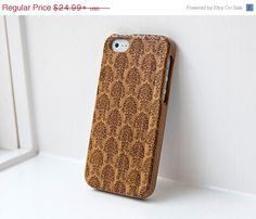 Black Friday Sale Custom iphone Bamboo Real Wood case engraved Vintage Floral Design - iPhone and Samsung Galaxy