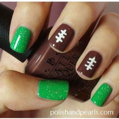 Check out these awesome 27 Football Nail Art Inspirations, Covergirls Fun Team … Are you a football mama? Sign up your kids for a 4v4 flag football tournament today at www.LetItFly.org