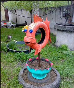 Repurpose-Old-Tire-into-a fish.