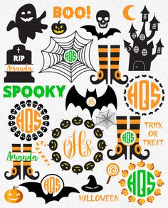 Halloween Svg Dxf Bundle Svg Pumpkin svg ghost by HighQualitySVG