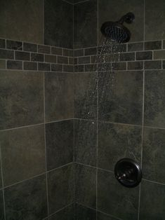 Porcelain Slate Bathroom in Fort Collins - Maybe too dark for the small VT bathroom.  May want to look at lighter tones.