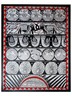 Surya Rays of life Original madhubani painting by Swarag on Etsy, $150.00