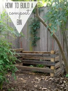 How to Build an Almost Free Compost Bin!