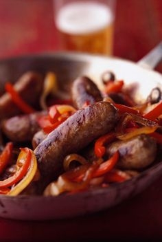 Midwestern Style Beer Brats.........can use any of your favourite sausage