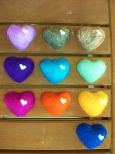 Pretty wool covered heart felted soaps for sale on Etsy