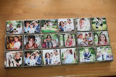"""Photo blocks... take pictures of family members holding up a letter to make a word. """"Family"""" or your last name would work well! """"Grandpa"""" or """"Uncle"""" for gifts.... hmm..."""