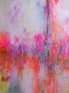 'In the mist,' original abstract painting by artist Marta Zawadzka (Poland) available at SaatchiArt #Pink