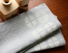 linen block-printed designs from Blake Kahan of Willow Ship
