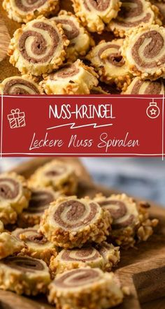 Zauberhafte Nusskringel Plätzchen Cookie Recipes, Dessert Recipes, Desserts, Christmas Biscuits, Christmas Cookies, Holiday Party Appetizers, Diy Food, Cheesecake, Food And Drink