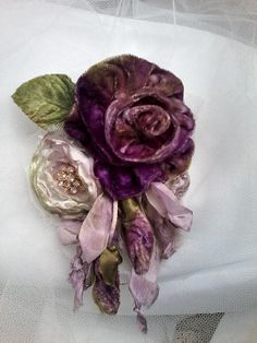 velvet rose shabby brooch, corsage, hair accessory, velvet flowers, wedding, purple rose brooch, handmade velvet rose, floral corsage,