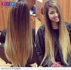 18 Inch Double Weft ombre Hair Extensions in Light Chestnut Brown/ Strawberry Blonde ( Buy the most Gorgeous ombre Colours. Cliphair offers Human Hair Extensions in 38 colours. Love Hair, Gorgeous Hair, Pretty Hairstyles, Straight Hairstyles, Boho Hairstyles, Curly Hair Styles, Natural Hair Styles, Corte Y Color, Hair Affair