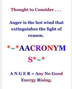 thought to consider & acronyms