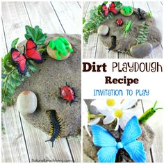 Dirt Inspired Coffee Ground Play Dough Kids Love, Mud sensory play, Mud Playdough, Insect activities, Coffee Ground Playdough, Coffee Playdough Recipe, Make Dirt playdough Kids love to drive trucks through, find insects in, and make fossils, Soft Homemade Cooked Playdough, Nature Activity, Nature Sensory Play, Spring Sensory Play