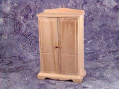 Baby Armoire  - Pin it :-) Follow us .. CLICK IMAGE TWICE for our BEST PRICING ... SEE A LARGER SELECTION of  Baby Armoire at  http://zbabybaby.com/category/baby-categories/baby-nursery/baby-armoire/ - gift ideas, baby , baby shower gift ideas, kids  -   Miniature Unfinished Furniture – Armoire « zBabyBaby.com