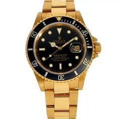 Rolex Submariner ref. 16618 (D+P - Spiegelgracht Juweliers Rolex Watches For Men, Vintage Watches For Men, Vintage Rolex, Luxury Watches, Rolex Cosmograph Daytona, Rolex Submariner, Rolex Paul Newman, Expensive Watches, Wearable Device
