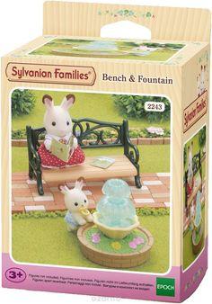 Купить Sylvanian Families Игровой набор Фонтан и скамейка - детские товары Sylvanian Families в интернет-магазине OZON.ru, цена sylvanian families игровой набор фонтан и скамейка