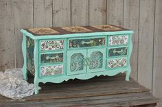 Hey, I found this really awesome Etsy listing at https://www.etsy.com/listing/219785969/jewelry-box-shabby-chic-music-box-mint