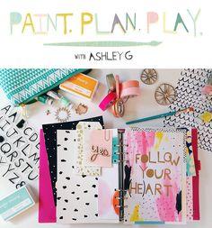 Play at @ Studio Calico. Art Journaling with washi Tape. My Planner Colibri, Day Planners, Studio Calico, Tampons, Planner Organization, Art Journal Inspiration, Smash Book, Kikki K, Mini Books