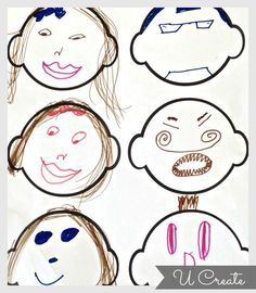 Free Printable Funny Faces keeping the kids busy with imagination fun! | Sounds like a rainy summer day activity to me...