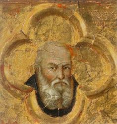 Ugolino di Nerio - Santi Simone e Taddeo (particolare) - 1325-1328 - Tempera all'uovo su tavola -  National Gallery, Londra