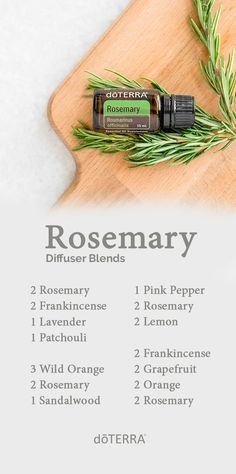 The chemical makeup of Rosemary essential oil gives it renewing properties that can be both energizing and settling, particularly when you diffuse it. Try diffusing one of these Rosemary oil blends.