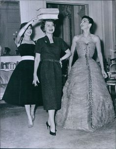 Olivia with Dior models.Olivia de havilland birthday countdown #26 days to go!